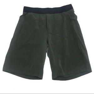 LuluLemon Men's Green Elastic Waist Shorts